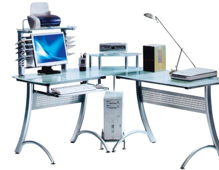 Escritorio de Cristal Gerencial, mueble de oficina, ejecutivo, moderno de vidrio.