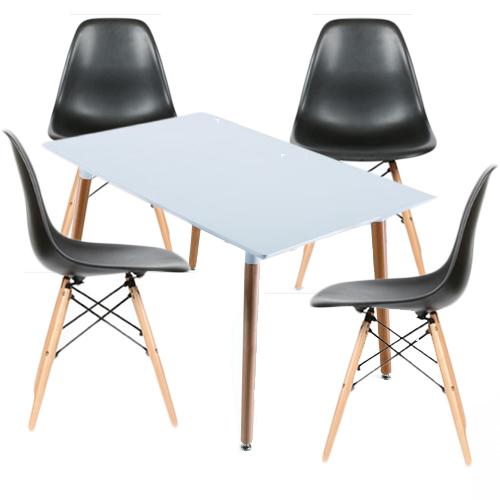 Kit Silla Eames Tradicional, muebles de la sala de estar, jardín, comedor, cafetería y restaurante, de alta calidad moderna, práctica y portátil.